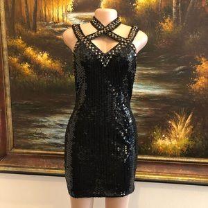 Niteline Vintage Black Cocktail Dress Size 4
